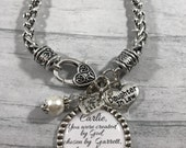 DAUGHTER in Law BRACELET, Future Daughter in Law, Gift for BRIDE, Bridal Shower Gift, Wedding Jewelry, Wedding Bracelet, Bride to be Gift