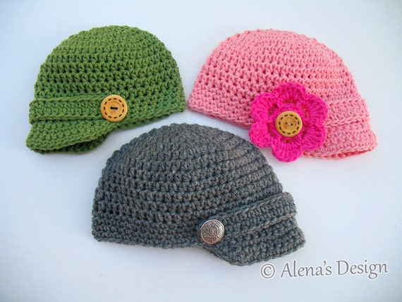 Crochet Baby Hat Patterns 0 3 Months : Crochet Pattern 082 - Crochet Hat Pattern - Hat Crochet ...