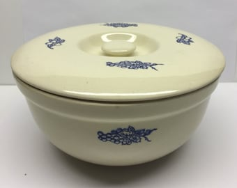 Oxfordware Ironstone Covered Refrigerator Dish