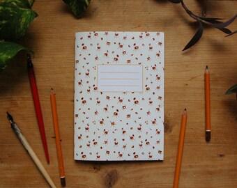 Chestnut animal notebook, chestnut notebook, chestnut journal