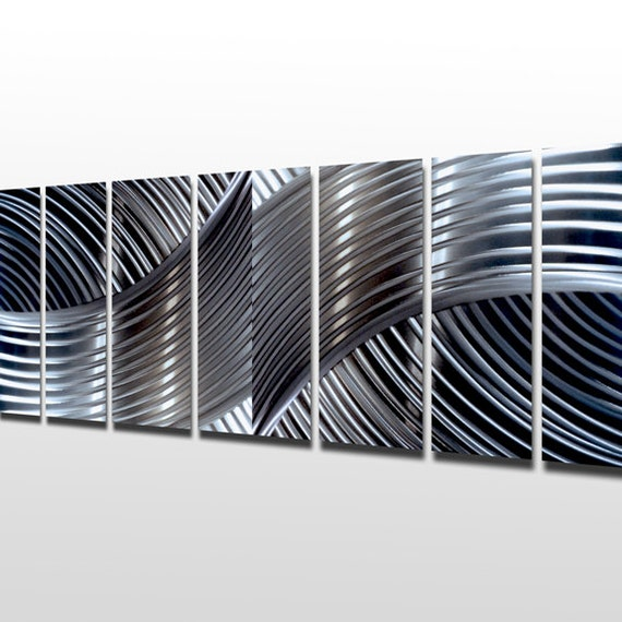 Wall Art Metal Panels : Silver wall art panels large metal sculpture