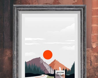 Twin Peaks Minimalist Movie Poster - Alternative Poster - Welcome to Twin Peaks - David Lynch (Available in many sizes)