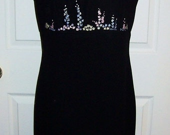 Vintage Ladies Sleeveless Black Dress by Ann Taylor Loft Size 6 Only 12 USD
