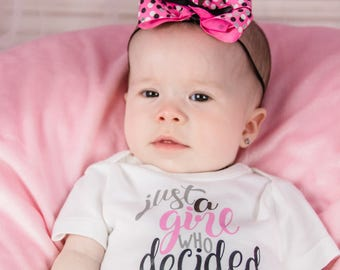 Baby Homecoming Outfit, Baby Hospital Outfit Girl, Newborn Photo Outfit, Newborn Girl Take Home Outfit, baby shower gift, A Girl who Decided