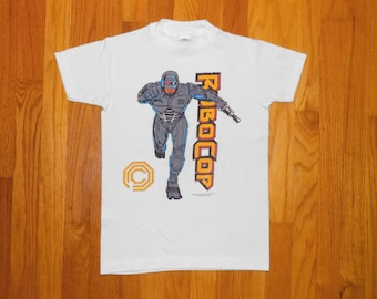 Kid's Vintage 80s ROBOCOP T-Shirt Youth L