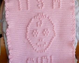 Gender Reveal Baby Blanket Crochet Pattern  - Baby Snuggle Blanket  - Car Seat or Stroller Blanket