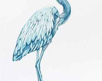 Blue Heron Print (281)