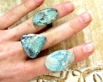 Azurite Healing Rings / Boho Jewelry