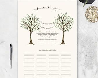 """Marriage Certificate - fully customizable """"Springtime"""" design"""