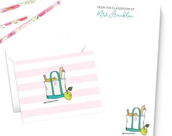 Personalized Teacher Gift Stationery Set