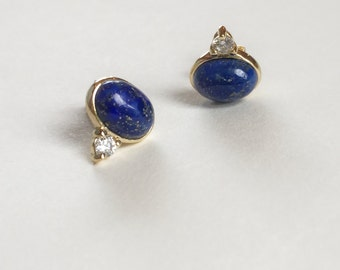 NEW Orb Earstuds - Lapis Lazuli Earrings, Bridesmaids Gift, Gifts for Her