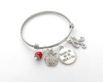 Personalized TEACHER Gift, teacher bracelet, Gifts for Teachers Retirement Gift, Teachers like you are special and few, End of school gift