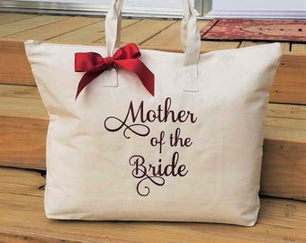 Monogrammed Tote Bag Mother of the Bride Mother of the Groom Personalized Bags