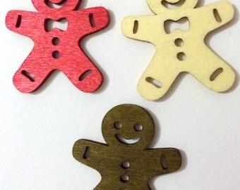Christmas Needle Minder, Ginger manNeedle Minder, Festive Needle Keep, Pin Holder, Fridge Magnet, Stitch Minder, Needle Holder, Needle Keep
