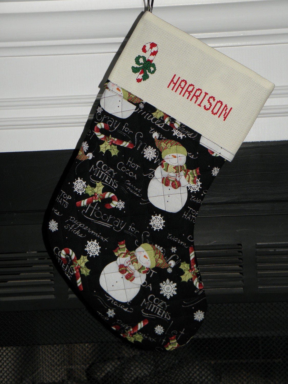 Quilted Personalized Christmas Stockings
