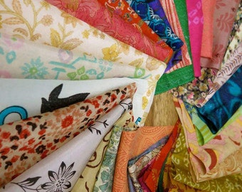 Mixed silk fabric scraps, silk off-cuts for Easter egg dyeing