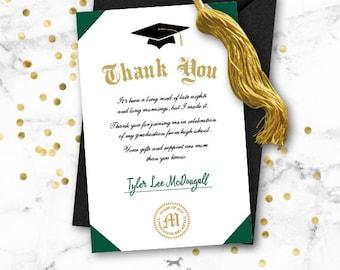 Grad thank you   Etsy
