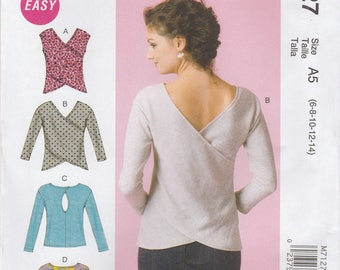 Awesome Overlap Shirt Pattern McCalls 7127 Sizes 6 - 14 Uncut