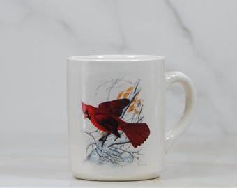 Vintage Coffee Cup 1986, National Wildlife Federation, Northern Cardinal, Cardinalis cardinalis, 31114, Birds, Drinking Cup, Wildlife, Mug
