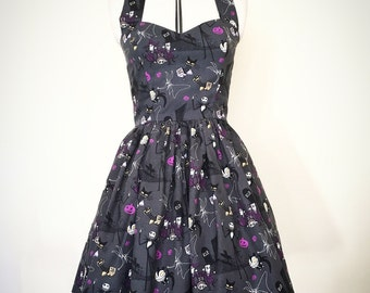 Nightmare before Christmas dress- Rockabilly, gothic, goth, alternative, skeleton, skulls