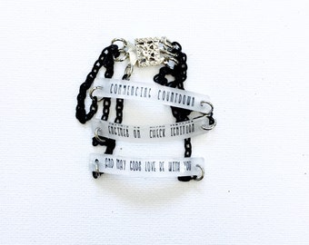 David Bowie Jewelry // Space Oddity Bracelet // Major Tom // Rock Music Jewelry // Lyrics Necklace // Custom Bracelet // Ziggy Stardust