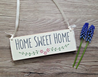 Home Sweet Home Wooden Sign, Shabby Chic Signs, Home Sweet Home, Rustic Signs, Pretty Wooden Signs, Gift for her, Housewarming Gift