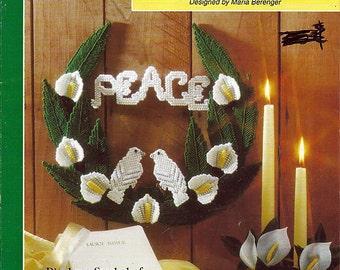 Peace Dove Wreath Plastic Canvas Pattern Book  The Needlecraft Shop 943372
