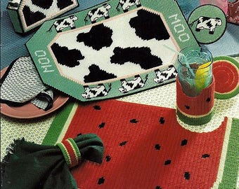 Plastic Canvas Placemats Pattern Book American School of Needlework 3128