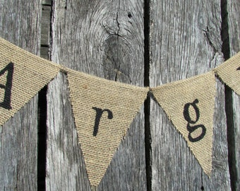 Argh Burlap Banner, Rustic Flags, Pirate Theme Party, Boy Party, Fantasy Wedding Theme, Photo Prop, Photography Prop