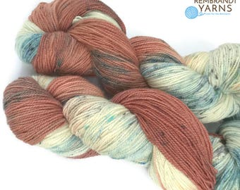 Indie Dyed Yarn, Superwash Sock Yarn,  Speckled Sock Yarn, Knitting Yarn, Crochet