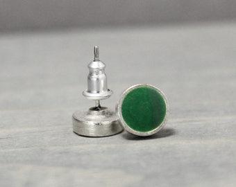 Studs Earrings, Green Stud Earrings, Malachite Earrings, Earring Studs, Crystal Earrings, Green Earrings Studs, St Patricks Day Earrings