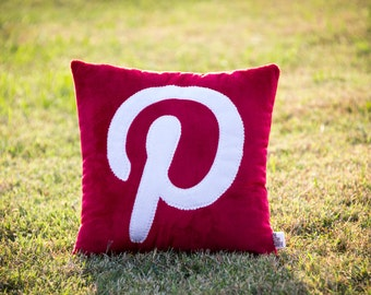 Social Media App Pinterest Icon Decorative Minky Fleece Pillow - MADE TO ORDER