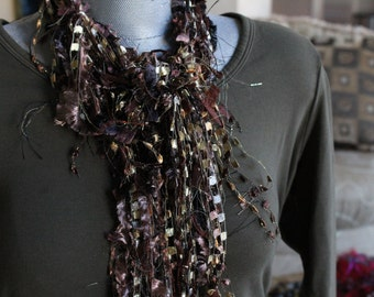 Browns & Golds Knotty Little Scarf 16-628