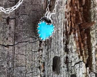 Sweetheart Pendant - Kingman Turquoise
