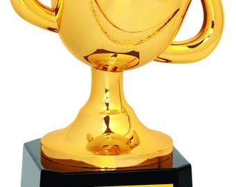 Tiny Tots Happy Cup T-Ball Trophy, Tball Trophy, Happy Cup Trophy, T-Ball Award, Baseball Trophy