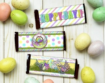Easter Candy Bar Wrapper - Easter Candy Gift- Easter Gift Idea - Kids Easter - Easter Chocolate - Easter Printable - Easter Basket Goody -