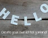 Custom Letter Banner - MINI, Letter Garland, Letter Bunting, Word Banner, Party Decoration, Paper Garland