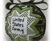 Military Quilted Ornament - Army