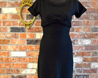 1950's Black Kimberly Sweater Dress