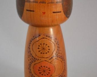 Kokeshi doll, sosaku modern creative style, stamped