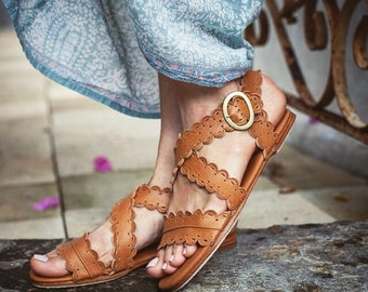MERMAID. Leather sandals / women shoes / women sandals / leather shoes/ bohemian sandals. Sizes 35-43. Available in different leather colors