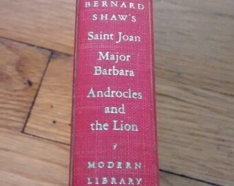Bernard Shaw: 3 plays (Saint Joan, Major Barbara, Androcles and the Lion) Modern Library