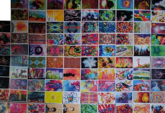 100 x Bulk Art Postcards / Wholesale Postcard Lot / Artist Painting Cards for Postcrossing