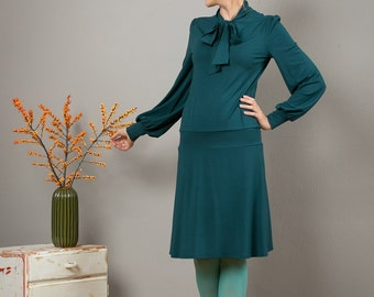 "In many different colours: Elegant dress ""Stella"", petrol"