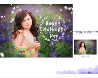 7x5in Photocard PSD Template, Mothers Day, any