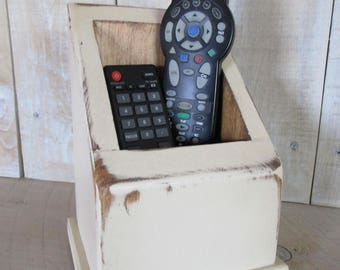 Primitive Handmade Remote Control Caddy - Remote Holder, Multi Use Caddy