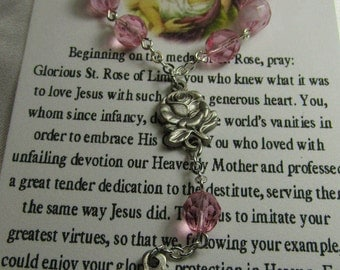 St. Rose of Lima~Rosary Chaplet,St of Florists, St of Gardeners, St of Needle workers, St Against Vanity, St of Embroiderers,