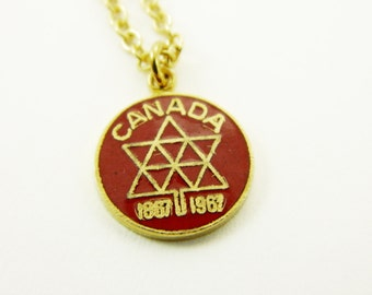 Canada 150 Necklace in Red - Canada Centennial Charm Necklace