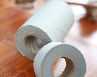 Solid Light Grey Cotton Bias in 2 sizes - 14 Yards by the roll 93379