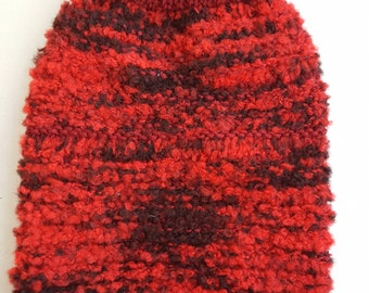 Small Dog Sweater-Knitted Red Dog Sweater-Dog Coat-Dog Costume-Size S